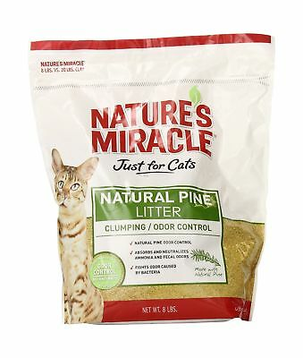 Nature's Miracle 8-Pound Natural Pine Clumping Litter