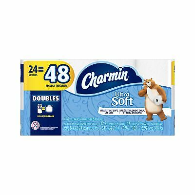 Charmin Ultra Soft Toilet Paper Double Rolls 24 Count