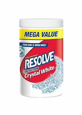 Resolve Oxi-Action Crystal White Laundry Stain Remover In-Wash Powder Whites ...