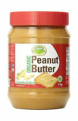 New World Foods Peanut Butter Crunchy Salted Organic 1Kg
