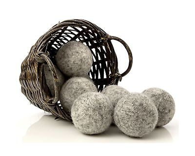 Dark Wool Dryer Balls (Set of 8) - Made For Drying Colors/Darks - Natural Fab...