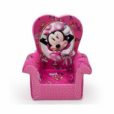Marshmallow Furniture Children's Upholstered High Back Chair Disney's Minnie ...