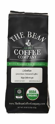The Bean Coffee Company Organic Unroasted Green Coffee Beans Colombian 16-Oun...