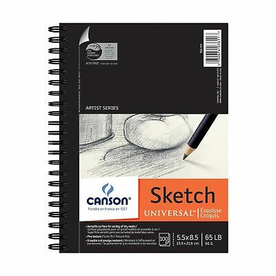 Pro-Art 5-Inch by 8-Inch Canson Universal Sketch Pad 100-Sheet 5 by 8-Inch