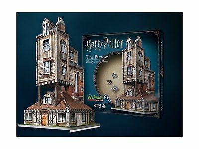 Wrebbit Harry Potter The Burrows (Weasley Family Home) 3D Puzzle 415 pcs