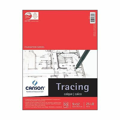 Pro-Art 9-Inch by 12-Inch Canson Tracing Paper Pad 50-Sheet