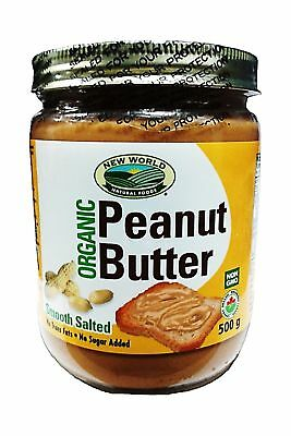 New World Foods Peanut Butter Smooth Salted Organic 500g