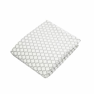 Kushies Baby Fitted Change Pad Sheet White/Grey Ornament