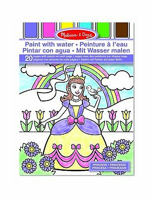 Melissa & Doug Paint With Water - Princess 20 Perforated Pages With Spillproo...