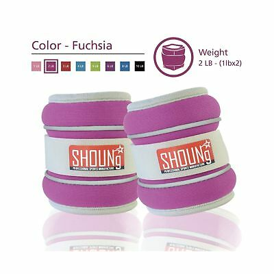 SHOUNg Reflective Ankle Weights/Wrist Weights with Adjustable Strap (Fuchsia ...