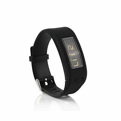 A-Lan Silicone Replacement Wristbands for Garmin Vivofit with Metal Clasp (No...
