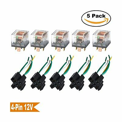 Ehdis [5 Set] Car Truck Motor Relay Socket with Connector Heavy Duty 12V 60A ...
