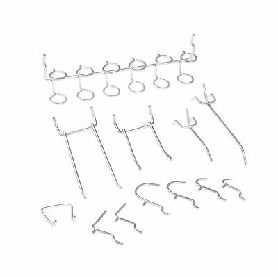 Neiko 53106 1-Inch Wide Pegboard Shelving Hooks Assorted 50-Piece Set 1 Pack