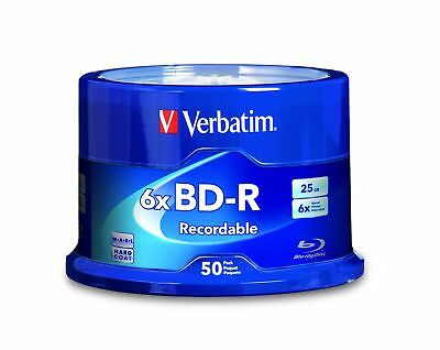 Verbatim BD-R 25GB 6X with Branded Surface - 50pk Spindle 98397 50-Disc