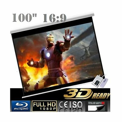 """CanadianView 100"""" 16:9 Electric Auto Projector Motorized Projection Screen 16..."""