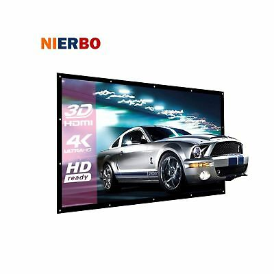 Projector Screen 100 Inch 16:9 Projection Screen Portable Screen Projector Ac...