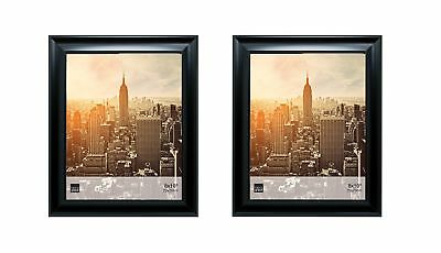 Kiera Grace Reagan Picture Frame  8 by 10 Inch Black Set of 2 Pack of 2-8x10""