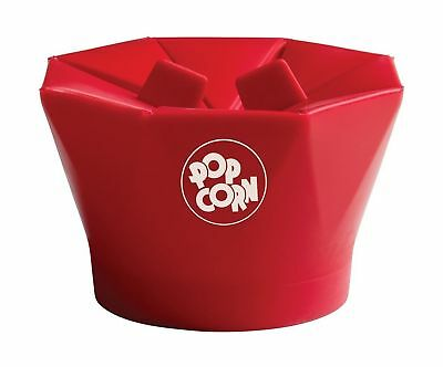 Chef'n PopTop Microwave Popcorn Popper Cherry