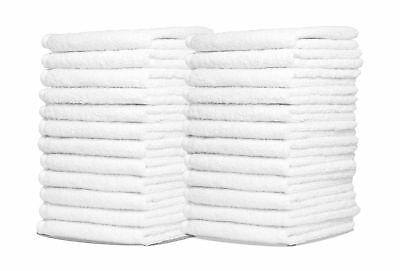 Wash Cloth Towels by Royal 24-Pack 100% Natural Cotton 12 x 12 Commercial Gra...