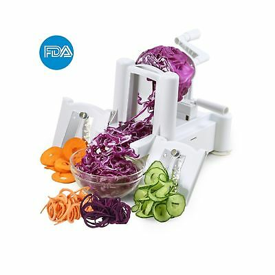 ICOCO Spiral Slicer Cutter With Tri-Blade for Vegetable Slicer Onion Chopper ...