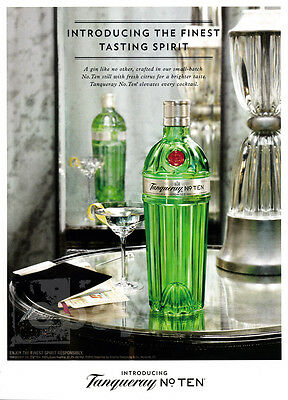 Tanqueray No. 10 1-page clipping ad May 2015 Martini glass
