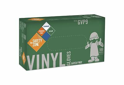 The Safety Zone Vinyl Disposable Gloves Large 100 Count
