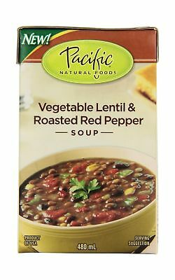 Pacific Natural Foods Organic vegetable lentil & roasted red pepper soup