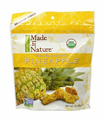 Made In Nature Organic Dried Pineapple 3 Ounce