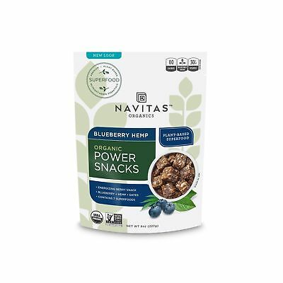 NAVITAS NATURALS Organic Blueberry Hemp Superfood Power Snack 8-Ounce Pouches