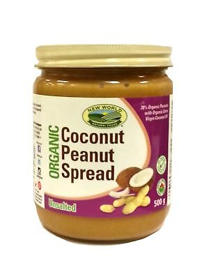 New World Foods Coconut Peanut Spread Unsalted Organic 500g