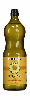 Soleil d'Or Organic Oil-Cooking and Frying Sunflower Oil 1L