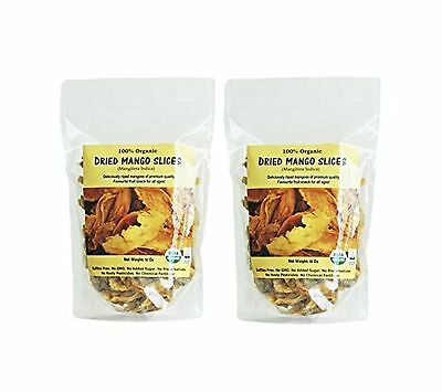 Indus Organic 100% Dried Mango Slices (2 Bags of 16 Oz) Raw Sulfite Free No A...