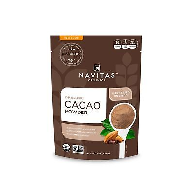 Navitas Naturals Organic Cacao Powder 16-oz. Pouches (Pack of 2)