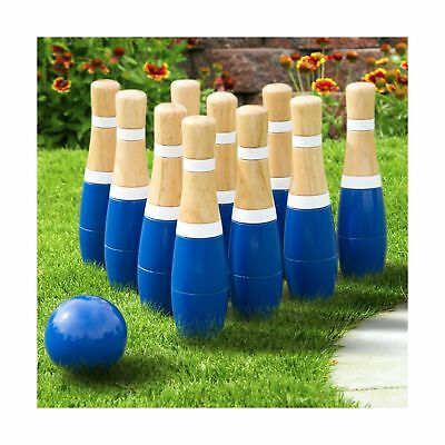 Hey! Play! Wooden Lawn Bowling Set 8-Inch 8""