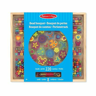 Melissa & Doug Bead Bouquet Deluxe Wooden Bead Set With 220+ Beads for Jewelr...