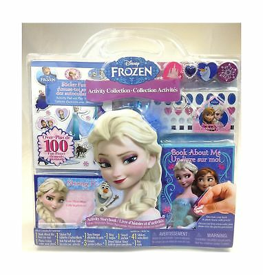 Disney Frozen Activity Collection Over 100 Fun Pieces Book Stickers Ring Sten...