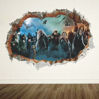 Harry Potter 3D Wall Sticker Poster Hogwarts Home Decor