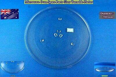 Microwave Oven Glass Turntable Plate Platter 360 mm Suits Many Brand (G)