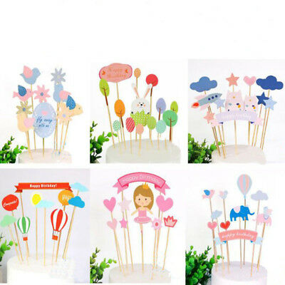 Cake decorating Creative Kids Happy Birthday Cupcake Cake Topper Cake Flags