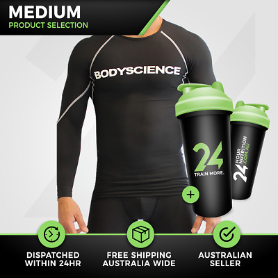 Mens Athlete Long sleeve Body Science | Medium | Athletic Recovery Clothing!