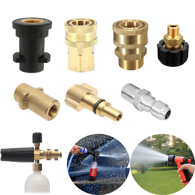 Quick Release Adaptor Pressure Washer Connector Thread F/ Snow Foam Lance 8Style