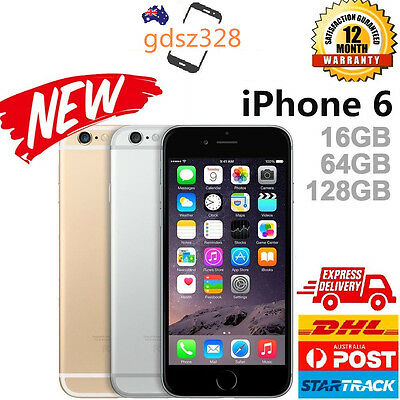 New in Box Factory Unlocked APPLE iPhone 6 16 64 128GB Space Grey Gold Silver AU
