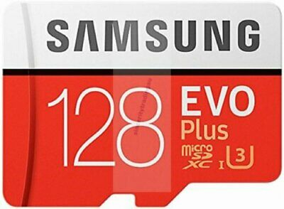 SAMSUNG EVO PLUS MICRO SDXC 100MB/s Read 90MB/s Write 128GB FLASH MEMORY CARD A
