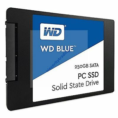"WESTERN DIGITAL WD BLUE 2.5"" 7MM SSD 540MB/s Read 250GB SOLID STATE DRIVE NEW A"
