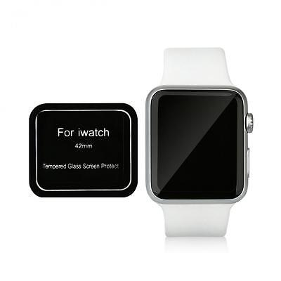 Black Premium Tempered Glass Full Cover Screen Protector for Apple Watch 42mm