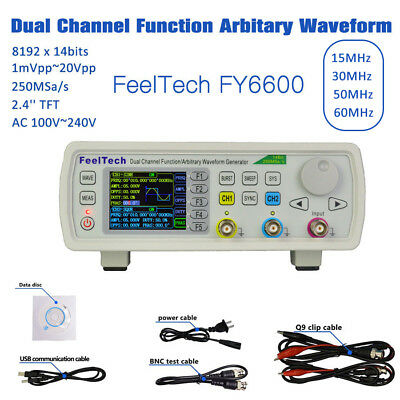FeelTech FY6600 15-60MHz DDS Dual Channel Function Arbitrary Waveform Generator