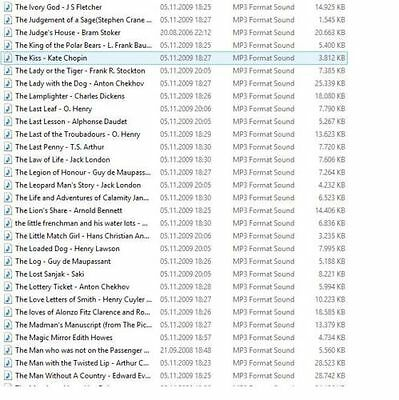 Audiobook Collection of 420 audio books, public domain on DVD-R, LibriVox