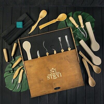 Set for spoon, bowl, kuksa wood carving Hand tools kit Wood carving tools STRYI