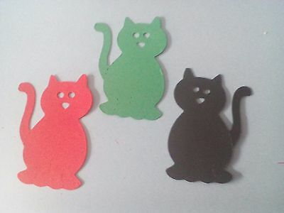 15  X Cat Shaped Die 160 gs card mixed cutout for scrapbooking and cards