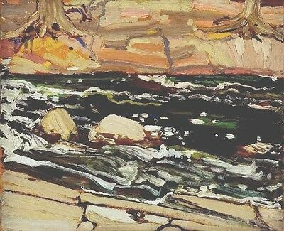 Tom Thomson Lithograph Group Of Seven Dark Waters Circa 1980's